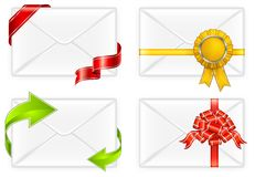 Envelopes with bow Stock Photo