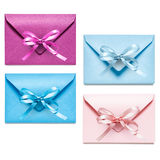 Envelopes with bow Stock Photography
