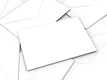 Envelopes brancos do negócio Foto de Stock Royalty Free