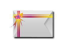 The envelopes with colorful ribbons.For the meaning of your mess Royalty Free Stock Images