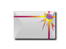 The envelopes with colorful ribbons.For the meaning of your mess Stock Photo