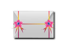 The envelopes with colorful ribbons.For the meaning of your mess Royalty Free Stock Image