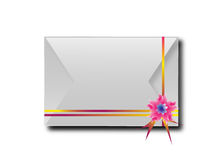 The envelopes with colorful ribbons.For the meaning of your mess Royalty Free Stock Photography