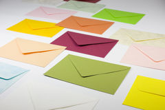 Envelopes coloridos Imagem de Stock Royalty Free