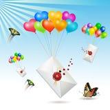 Envelopes com Imagem de Stock