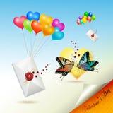 Envelopes com selo Foto de Stock