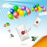 Envelopes com selo Imagem de Stock