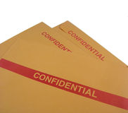 Envelopes confidenciais do negócio Foto de Stock