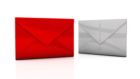 Envelopes in 3d Royalty Free Stock Photography