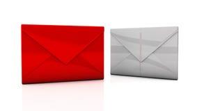 Envelopes in 3d royalty free illustration