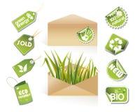 Envelopes do borne - idéia do eco Fotografia de Stock Royalty Free