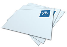Envelopes do email empilhados Imagem de Stock Royalty Free
