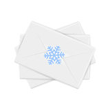 Envelopes do Natal com floco de neve Foto de Stock Royalty Free