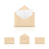 Envelopes do papel de Brown Imagem de Stock Royalty Free