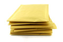 Envelopes do trânsito Fotografia de Stock Royalty Free