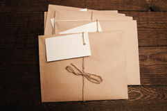 Envelopes from eco paper Royalty Free Stock Photos