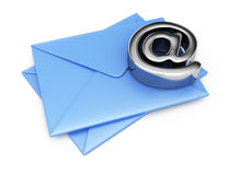 Envelopes and email symbol Royalty Free Stock Photography