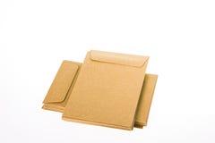 Envelopes fechados de Brown Foto de Stock