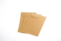 Envelopes fechados de Brown Imagem de Stock Royalty Free