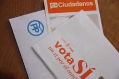Envelopes the general elections in Spain. Royalty Free Stock Photos