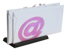 Envelopes on holder #2. Envelopes on holder with @ symbol on stock illustration