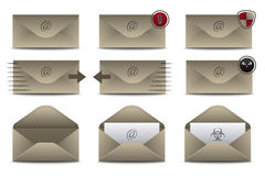 Envelopes Icons for Email Stock Images