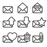 Envelopes Icons. This is file of EPS8 format Stock Photos