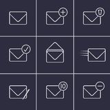 Envelopes icons Stock Images