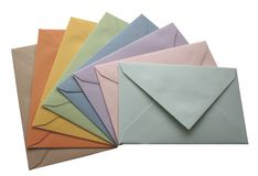 Envelopes isolados Foto de Stock