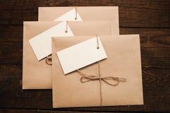 Envelopes from kraft pape Royalty Free Stock Image