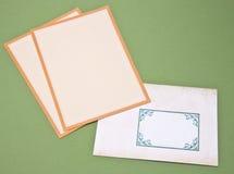 Envelopes for Letter Writing Stock Photos
