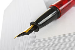 Envelopes for letters and pen Royalty Free Stock Image