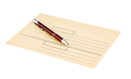 Envelopes for letters and pen Royalty Free Stock Images