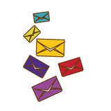 Envelopes and mail design Stock Images