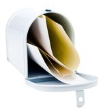Envelopes in a mailbox Stock Image