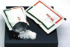 Envelopes of medicament powder type anti-inflammatory and analgesic stock photo
