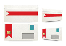 Envelopes with microchip mockup Royalty Free Stock Photo