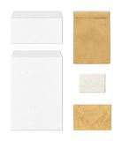Envelopes mockup template, white background Stock Images