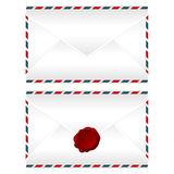 Envelopes over white Royalty Free Stock Photo