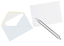 Envelopes and a pen Stock Image