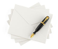 Envelopes and pen Stock Photo