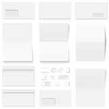 envelopes and postage stamps Stock Image