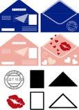 Envelopes postais Fotografia de Stock