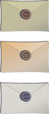 Envelopes with sealing wax Stock Image