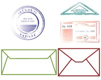 Envelopes and seals Stock Illustration