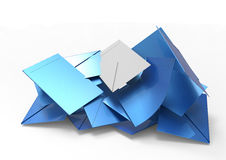 Envelopes. Selection envelopes and votes 3D royalty free illustration