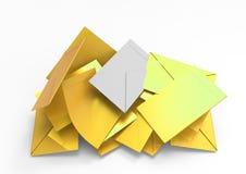 Envelopes. Selection envelopes and votes 3D stock illustration