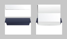 Envelopes set of corporate identity templates. Business office. Set of different envelopes types for office vector illustration