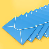 Envelopes Shows E-mail Symbol Contacting Sending Inbox Stock Photo