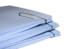Envelopes with staples pack Stock Image